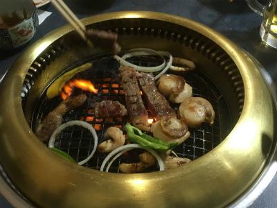 肉と海鮮焼き中