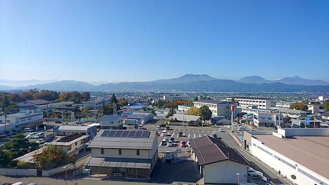 市役所からの北信五岳