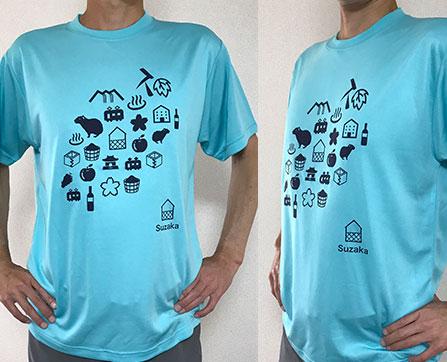 須坂柄Tシャツ販売中